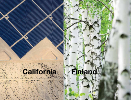 Finland and California – Two great but alternative approaches to Climate Change with Renewables