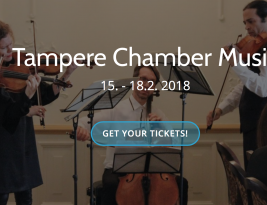 Tampere Chamber Music Festival will sound again with unalterable aim to endeavour well-being through music