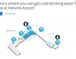 Eureka – reader discovers free water taps at Helsinki airport!