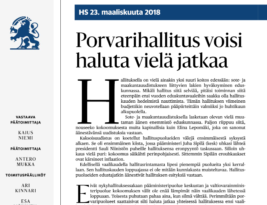 Main Finnish newspaper says that government should continue if re-elected at next election. What's type of nonsense is that?