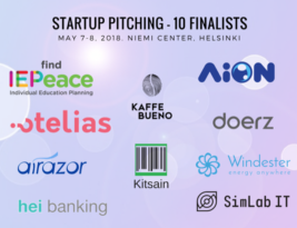 10 Finalists selected for Startup Pitching Contest @ InnoFrugal 2018, Helsinki