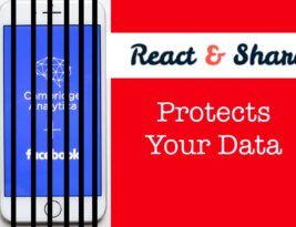 React & Share Protects Your Online Data