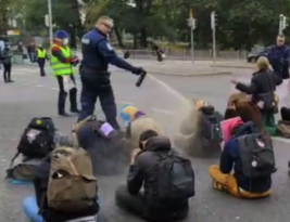 Peaceful Climate Change Protesters should Honoured not Sprayed